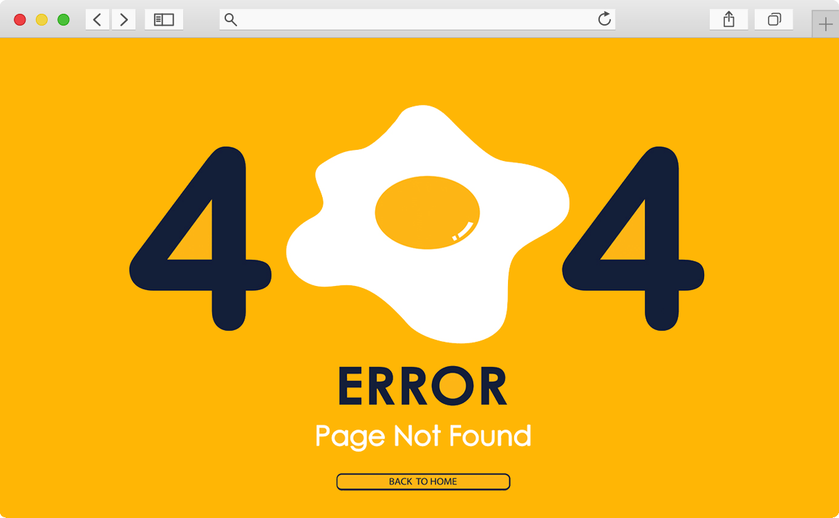 Browser with 404